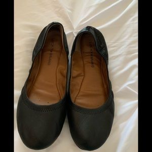 Lucky Brand 🍀 black leather flats sz 9